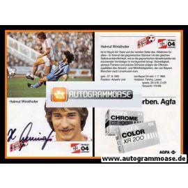 Autogramm Fussball | Bayer Leverkusen | 1984 | Helmut WINKLHOFER