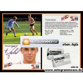 Autogramm Fussball | Bayer Leverkusen | 1984 | Thomas ZECHEL