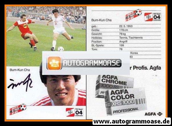 Autogramm Fussball | Bayer Leverkusen | 1985 | Bum Kun CHA