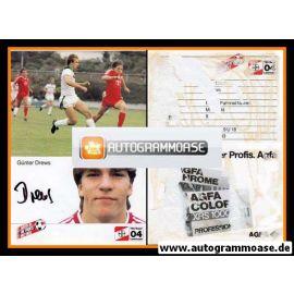 Autogramm Fussball | Bayer Leverkusen | 1985 | Günter DREWS