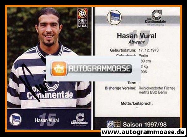 Autogramm Fussball | Hertha BSC Berlin | 1997 | Hasan VURAL