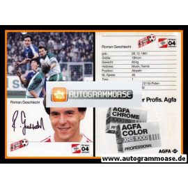 Autogramm Fussball   Bayer Leverkusen   1985   Roman GESCHLECHT