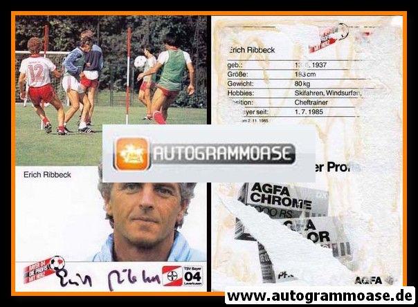 Autogramm Fussball   Bayer Leverkusen   1985   Erich RIBBECK