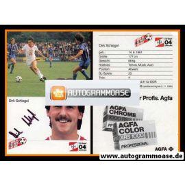 Autogramm Fussball | Bayer Leverkusen | 1985 | Dirk SCHLEGEL