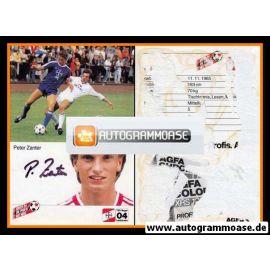 Autogramm Fussball | Bayer Leverkusen | 1985 | Peter ZANTER