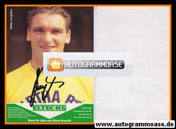 Autogramm Fussball | Hertha BSC Berlin | 1989 | Walter JUNGHANS