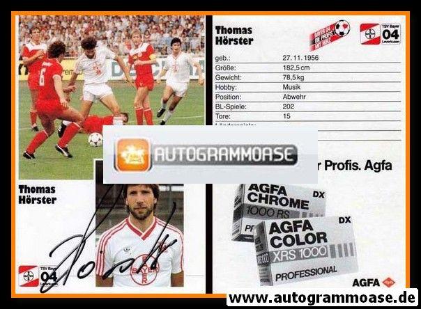 Autogramm Fussball | Bayer Leverkusen | 1986 | Thomas HÖRSTER