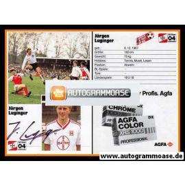 Autogramm Fussball | Bayer Leverkusen | 1986 | Jürgen LUGINGER (1)