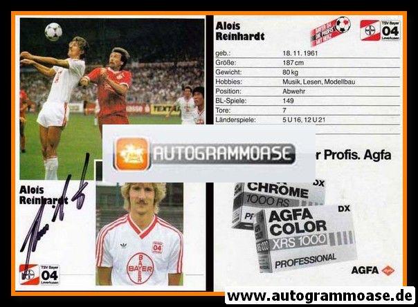 Autogramm Fussball | Bayer Leverkusen | 1986 | Alois REINHARDT