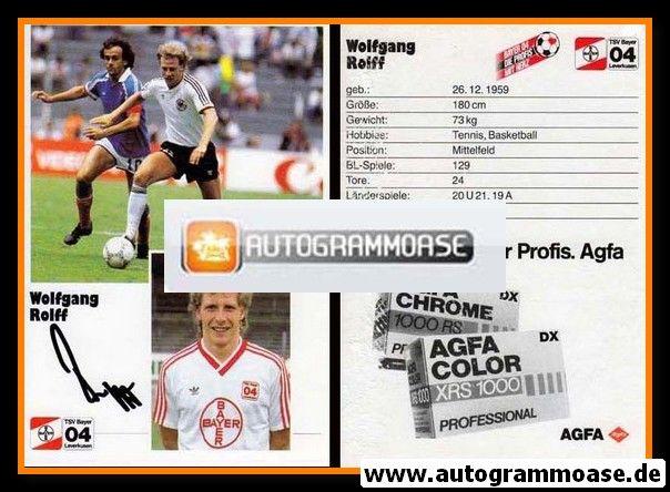 Autogramm Fussball | Bayer Leverkusen | 1986 | Wolfgang ROLFF