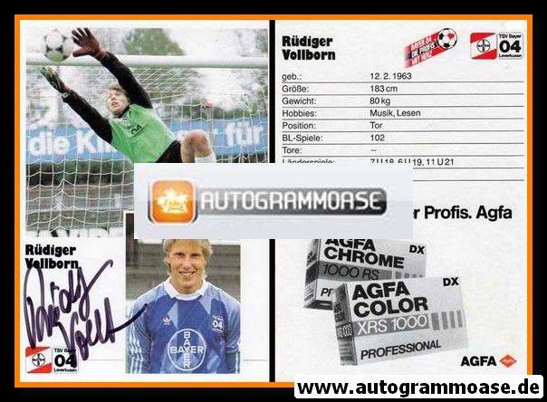 Autogramm Fussball | Bayer Leverkusen | 1986 | Rüdiger VOLLBORN