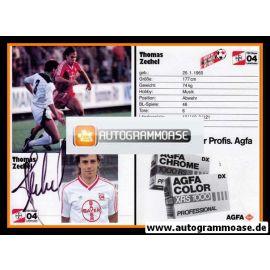 Autogramm Fussball   Bayer Leverkusen   1986   Thomas ZECHEL