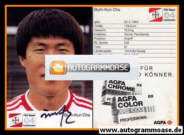 Autogramm Fussball   Bayer Leverkusen   1987   Bum Kun CHA