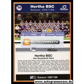 Mannschaftskarte Fussball | Hertha BSC Berlin | 1997