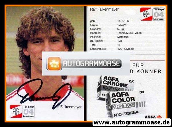 Autogramm Fussball | Bayer Leverkusen | 1987 | Ralf FALKENMAYER
