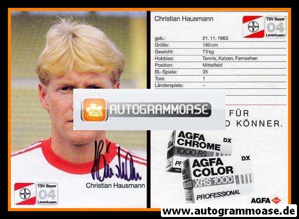 Autogramm Fussball | Bayer Leverkusen | 1987 | Christian HAUSMANN