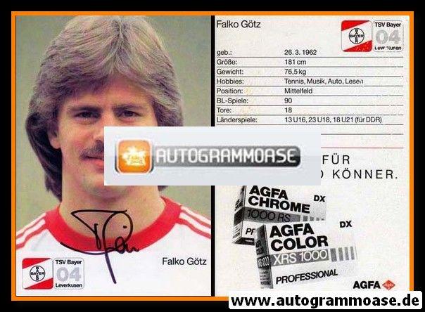 Autogramm Fussball | Bayer Leverkusen | 1987 | Falko GÖTZ