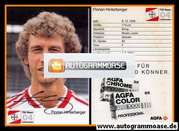Autogramm Fussball | Bayer Leverkusen | 1987 | Florian HINTERBERGER