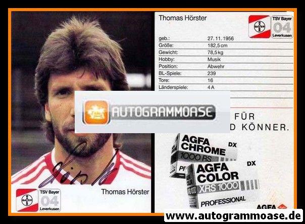 Autogramm Fussball   Bayer Leverkusen   1987   Thomas HÖRSTER