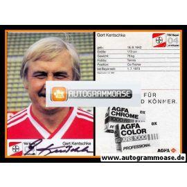 Autogramm Fussball   Bayer Leverkusen   1987   Gerd KENTSCHKE