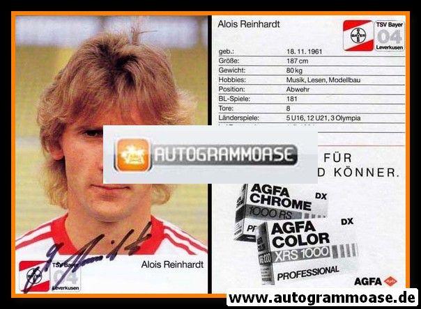 Autogramm Fussball | Bayer Leverkusen | 1987 | Alois REINHARDT