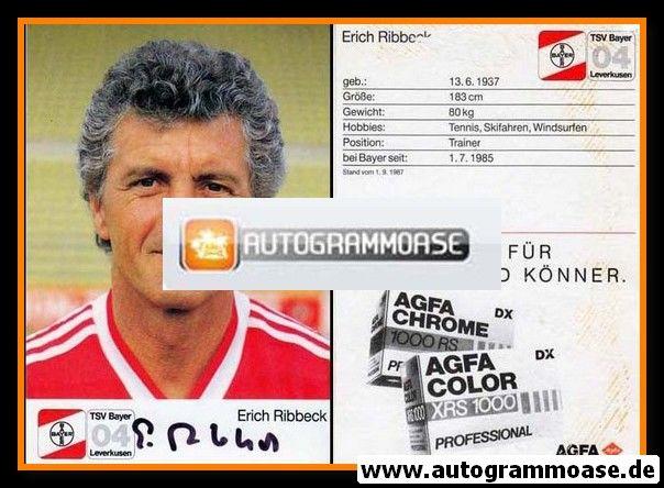 Autogramm Fussball | Bayer Leverkusen | 1987 | Erich RIBBECK