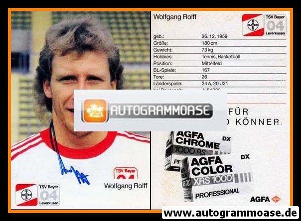 Autogramm Fussball | Bayer Leverkusen | 1987 | Wolfgang ROLFF