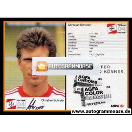 Autogramm Fussball | Bayer Leverkusen | 1987 | Christian SCHREIER