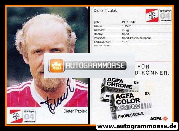 Autogramm Fussball | Bayer Leverkusen | 1987 | Dieter TRZOLEK