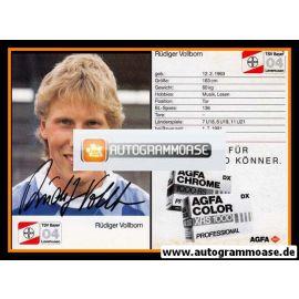 Autogramm Fussball | Bayer Leverkusen | 1987 | Rüdiger VOLLBORN