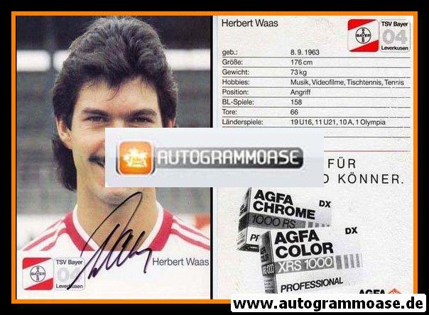 Autogramm Fussball   Bayer Leverkusen   1987   Herbert WAAS