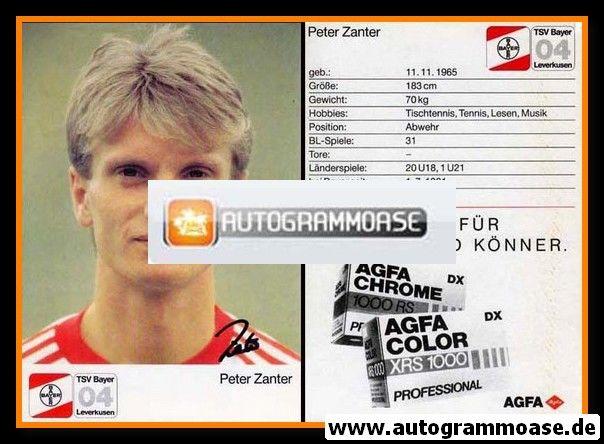 Autogramm Fussball | Bayer Leverkusen | 1987 | Peter ZANTER