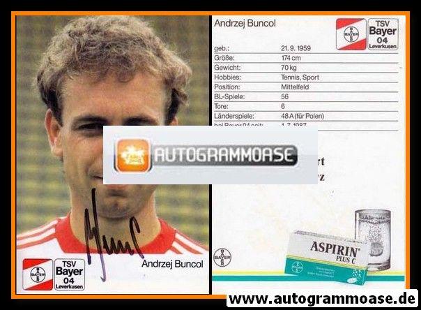 Autogramm Fussball | Bayer Leverkusen | 1988 | Andrzej BUNCOL