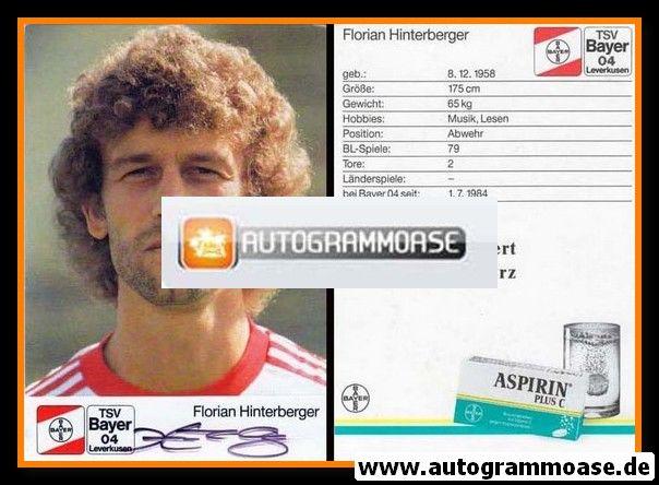 Autogramm Fussball | Bayer Leverkusen | 1988 | Florian HINTERBERGER