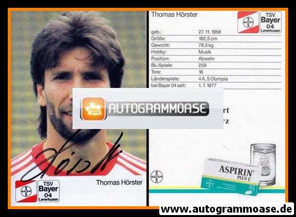 Autogramm Fussball | Bayer Leverkusen | 1988 | Thomas HÖRSTER