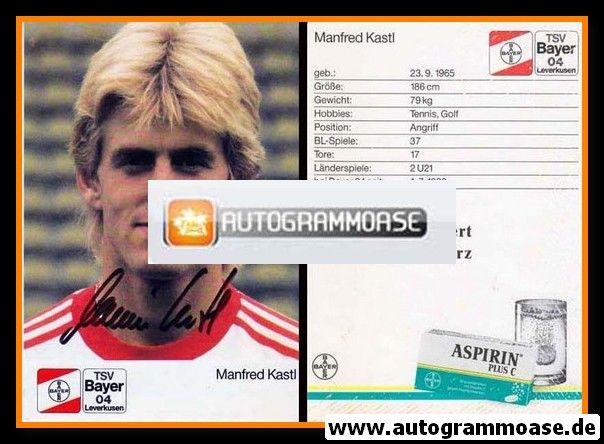 Autogramm Fussball | Bayer Leverkusen | 1988 | Manfred KASTL