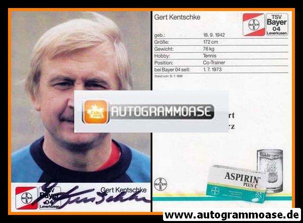 Autogramm Fussball   Bayer Leverkusen   1988   Gerd KENTSCHKE