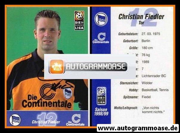 Autogramm Fussball   Hertha BSC Berlin   1998   Christian FIEDLER
