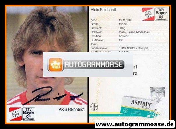 Autogramm Fussball | Bayer Leverkusen | 1988 | Alois REINHARDT
