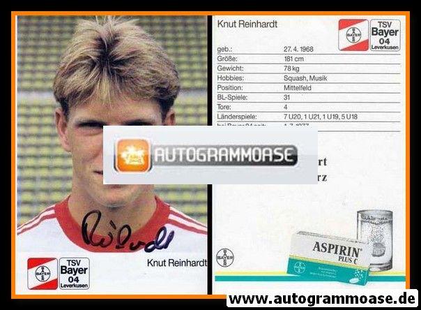 Autogramm Fussball | Bayer Leverkusen | 1988 | Knut REINHARDT
