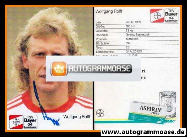 Autogramm Fussball | Bayer Leverkusen | 1988 | Wolfgang ROLFF