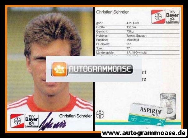 Autogramm Fussball   Bayer Leverkusen   1988   Christian SCHREIER