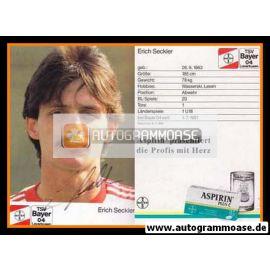Autogramm Fussball   Bayer Leverkusen   1988   Erich SECKLER