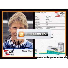 Autogramm Fussball | Bayer Leverkusen | 1988 | Rüdiger VOLLBORN