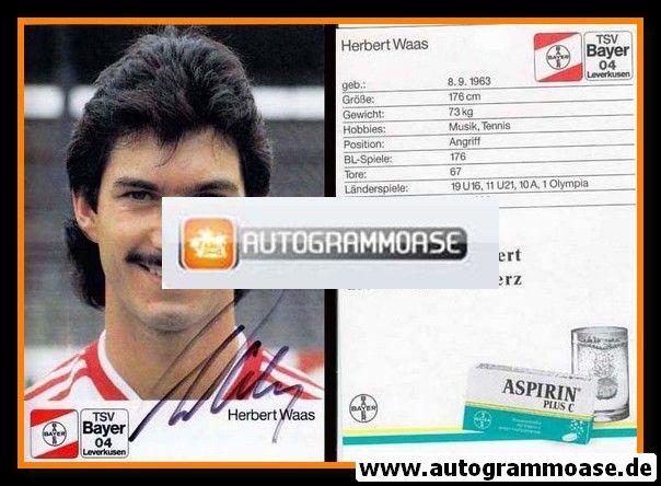 Autogramm Fussball   Bayer Leverkusen   1988   Herbert WAAS