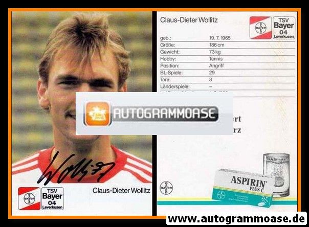 Autogramm Fussball | Bayer Leverkusen | 1988 | Claus-Dieter WOLLITZ