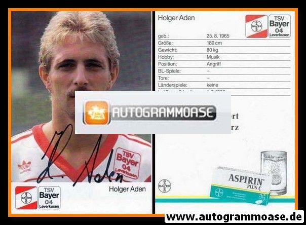 Autogramm Fussball | Bayer Leverkusen | 1989 | Holger ADEN