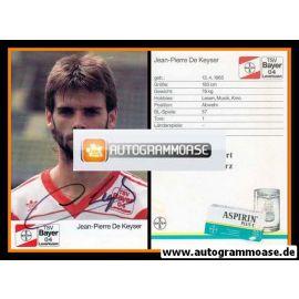 Autogramm Fussball | Bayer Leverkusen | 1989 | Jean-Pierre DE KEYSER