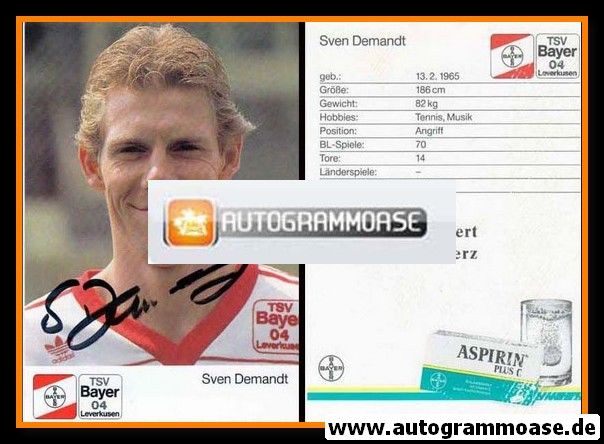Autogramm Fussball | Bayer Leverkusen | 1989 | Sven DEMANDT