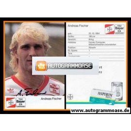 Autogramm Fussball | Bayer Leverkusen | 1989 | Andreas FISCHER